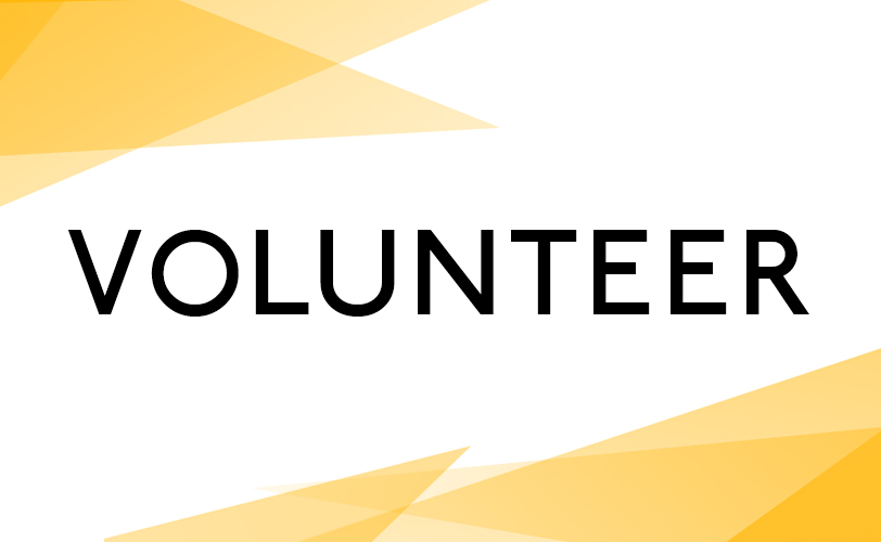 Volunteer with yellow